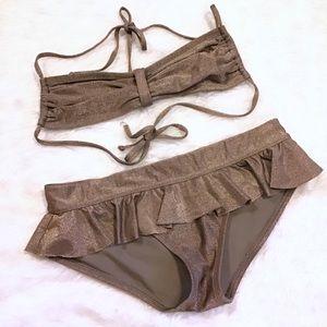 GAP BODY | Gold Shimmer Bikini Set